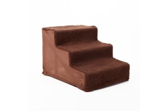 Dog Soft Steps Ladder - BROWN 46 x 36 x 31cm