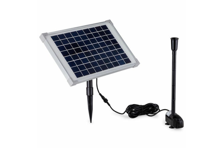 Protege 50W Solar Powered Fountain Submersible Water Pump Pond Kit Power Garden Panel