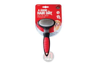 Interpet Mikki Slicker Hard Brush (Black/Red)