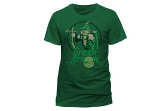 Green Arrow Unisex Adults Circle T-Shirt (Green) (S)
