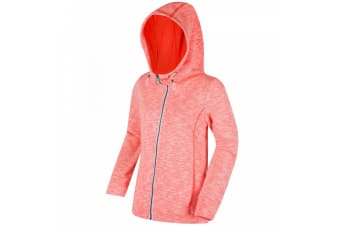 Regatta Womens/Ladies Ramosa Full Zip Hooded Fleece (Fiery Coral) (10 UK)