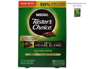 Taster's Choice Instant Coffee - Decaf House Blend 16 Single Serve Packets