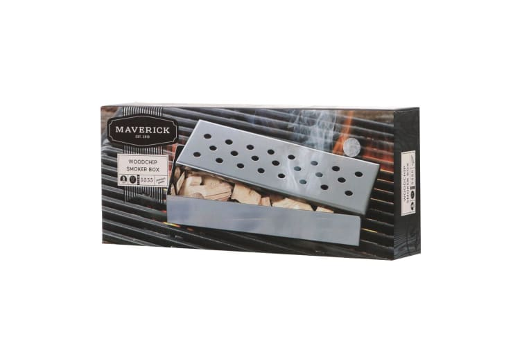 Woodchip Stainless Steel BBQ Smoking Wood Chip Smoker Grill Cooking Infuse Box