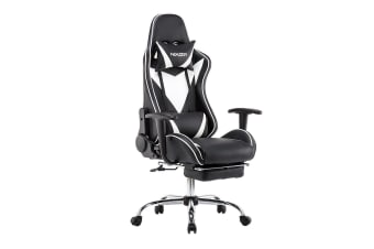 Adjustable High Back Racing Computer Chair w/ Footrest