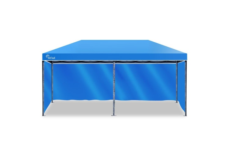 Red Track 3x6m Folding Gazebo Shade Outdoor BLUE Foldable Marquee Pop-Up