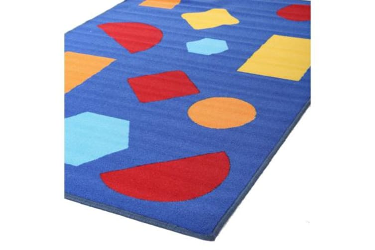 Kids Non Slip Shapes Rug Purple 150x100cm