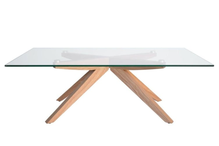 Amber Collection | Glass Coffee Table | Natural