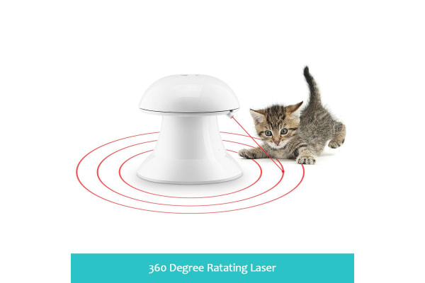 Automatic Dart Cat Laser Toy Interactive Pointer Light Pet Training Teaser Chase Toy - White