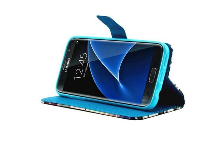 For Samsung Galaxy S7 Wallet Case Candle Love Shielding Leather Cover