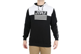 JetPilot Matrix Mens Hoodie - Black/White - Large
