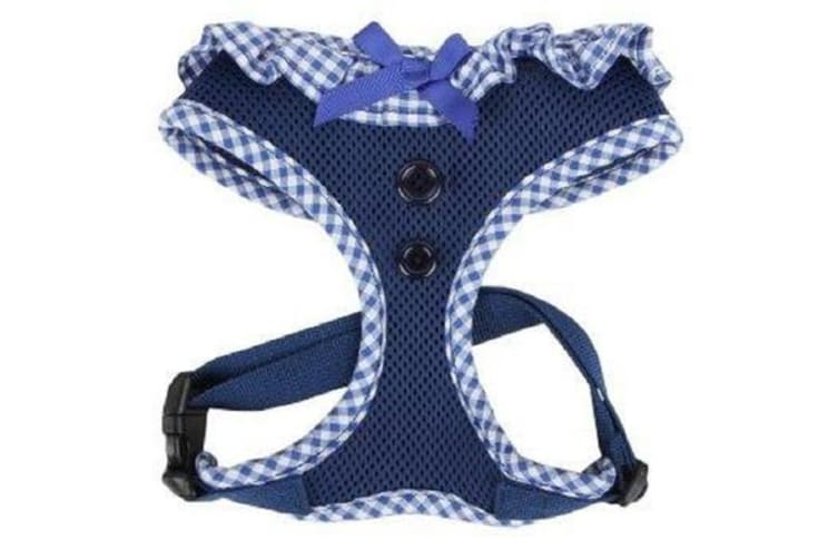 Puppia Gingham Harness Royal Blue - Large