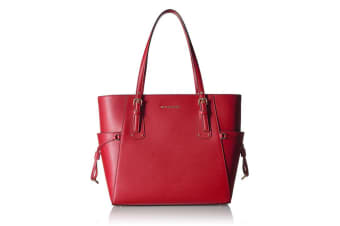Michael Kors Voyager East/West Signature Tote (Maroon)