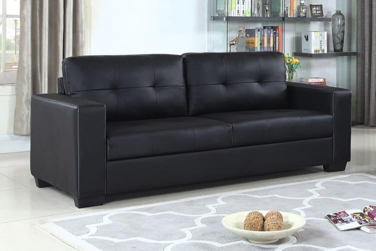 Nikki 3 Seater Sofa (Black)