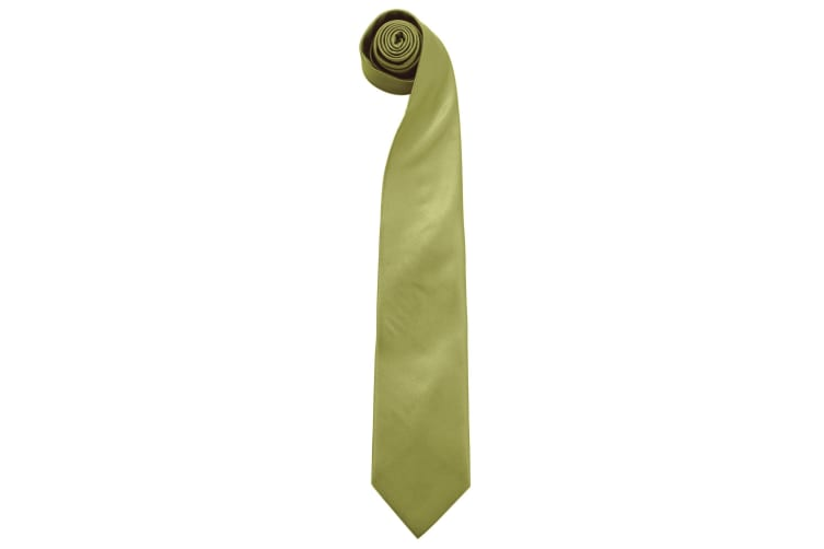 "Premier Mens ""Colours"" Plain Fashion / Business Tie (Pack of 2) (Grass) (One Size)"