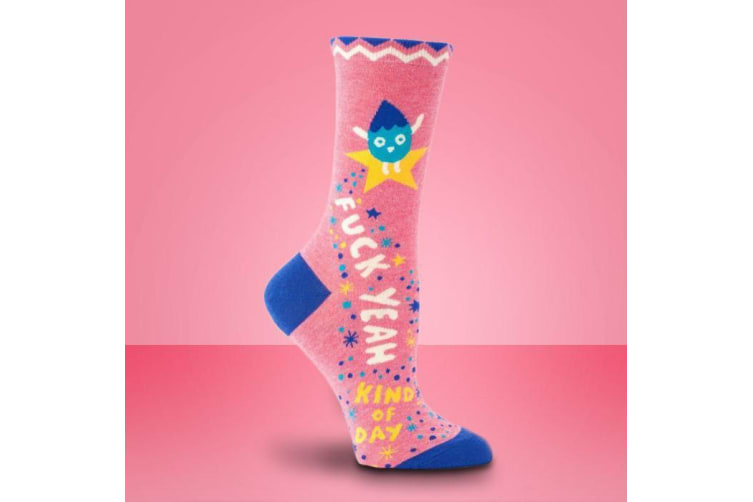 Socks For Ladies Who Sh#t Positivity - Fuck yeah kind of day