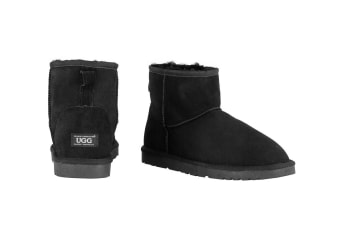 OZWEAR Connection Classic Mini Ugg Boots (Black)