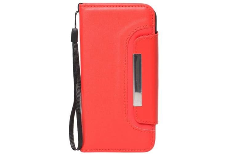 For iPhone 6S PLUS 6 PLUS Wallet Case Separable Horse Leather Cover Red
