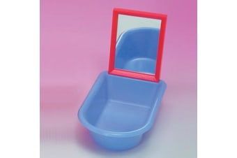 Plastic Bird Bath Tub with Mirror (Unipet)