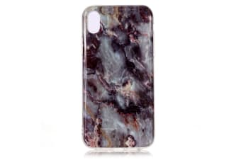 For iPhone XS MAX Case Marble Pattern Soft Shockproof Thin Protective Cover Grey