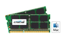 Crucial 16GB Kit (8GBx2) DDR3 1333 MT/s (PC3-10600) CL9 SODIMM 204 Pin 1.35V/1.5V for Mac