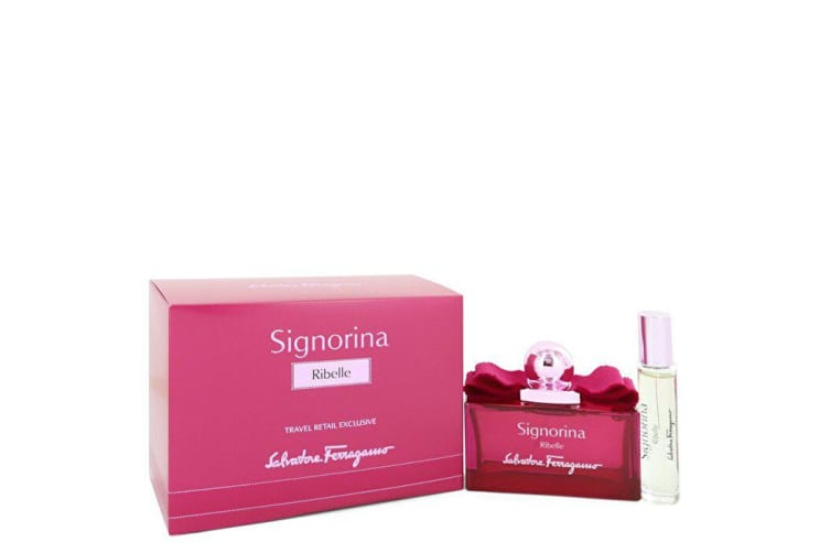 Salvatore Ferragamo Signorina Ribelle Eau De Parfu Spray + Free . Mini Eau De Parfum Spray 3.4 oz 100ml