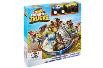 Hot Wheels Monster Trucks Mecha Shark Face-Off
