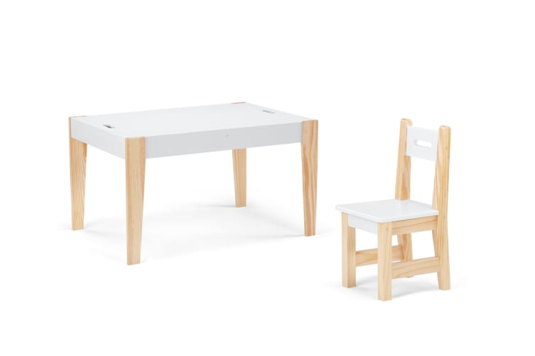 Ovela Kids Storage Table and Chair Set with Reversible Chalkboard Top