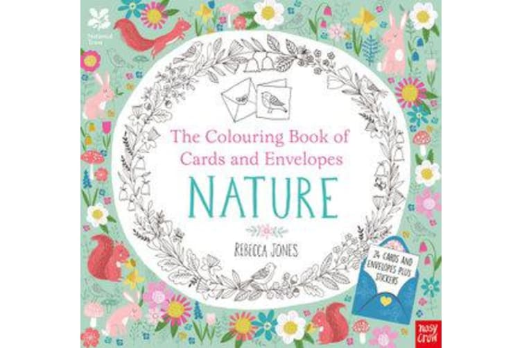 National Trust - The Colouring Book of Cards and Envelopes - Nature