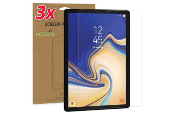 "[3 Pack] Samsung Galaxy Tab S4 10.5"" Ultra Clear Film Screen Protector by MEZON (SM-T830, T835, Clear)"