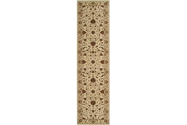 Stunning Formal Classic Design Rug Cream 400x80cm