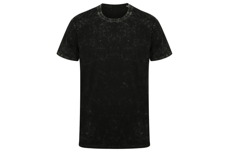 SF Unisex Adults Washed Band T-Shirt (Washed Black) (S)