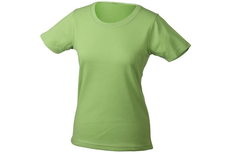 James and Nicholson Womens/Ladies Function Tee (Grass Green) (M)