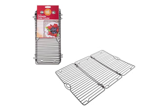Daily Bake 46cm Foldable Kitchen Non-Stick Cake Cooler Baking Stand Cooling Rack