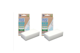 White Magic Eco Eraser Sponge Original - 2 Packs