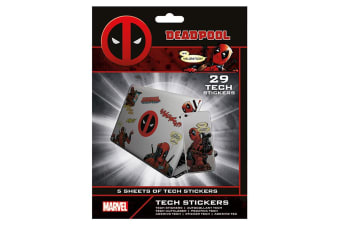 Deadpool Official Laptop Macbook Stickers (Pack of 29) (Various) (One Size)