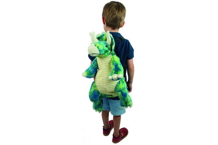 Plush Triceratops Dinosaur Backpack Bag