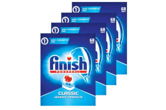 272PK Finish Tabs Classic Powerball Tablets for Dishwasher Dishwashing Detergent