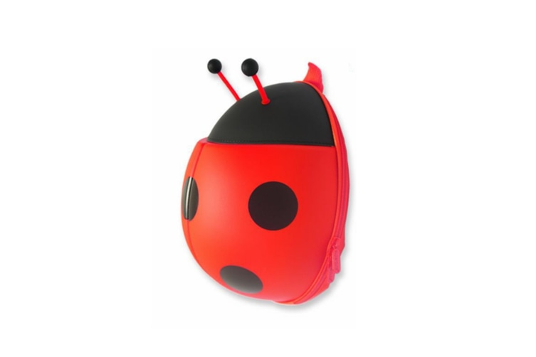 Creative Ladybug Backpack Shoulder Schoolbag For Children - Red Red
