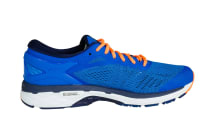 ASICS Men's Gel-Kayano 24 Running Shoe (Directoire Blue/Peacoat/Hot Orange)