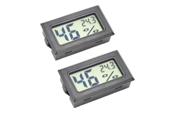 2-Pack Hygrometer Gauge Indoor Thermometer,Mini Digital LCD Monitor Temperature Outdoor Humidity Meter