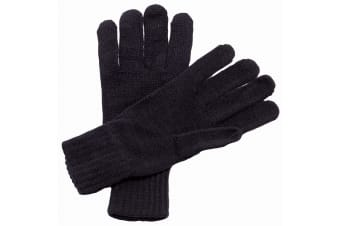 Regatta Unisex Knitted Winter Gloves (Black) (One Size)