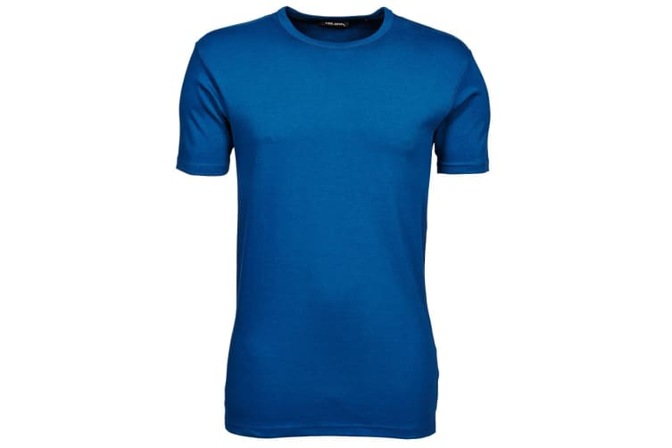 Tee Jays Mens Interlock Short Sleeve T-Shirt (Indigo) (M)