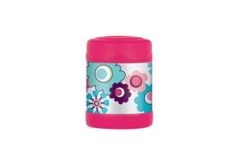 Thermos Funtainer Stainless Steel Vacuum Insulated Food Jar 290ml Flower