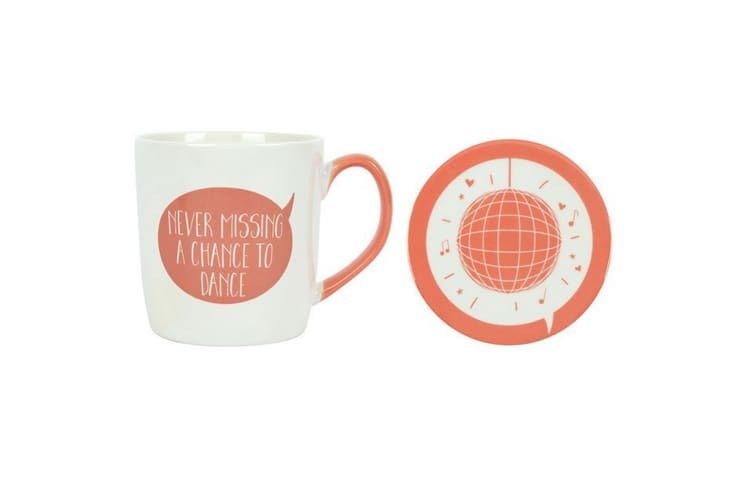 Something Different Never Missing A Chance To Dance Mug And Coaster Set (White) (One Size)
