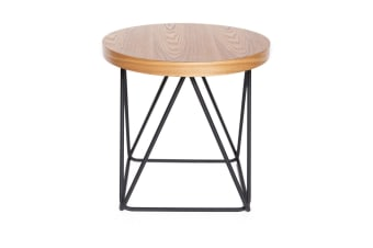 Oslo Side Table | Matte Black & Natural