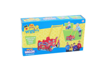 The Little Wiggles Walker Wagon/Car w/ Wooden Blocks 18 months+/Baby/Toddler Red