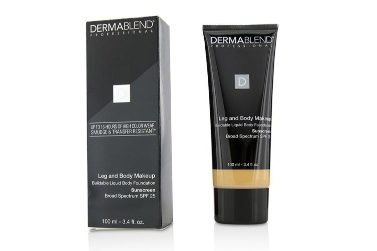 Dermablend Leg and Body Make Up Buildable Liquid Body Foundation Sunscreen Broad Spectrum SPF 25 - #Light Natural 20N 100ml