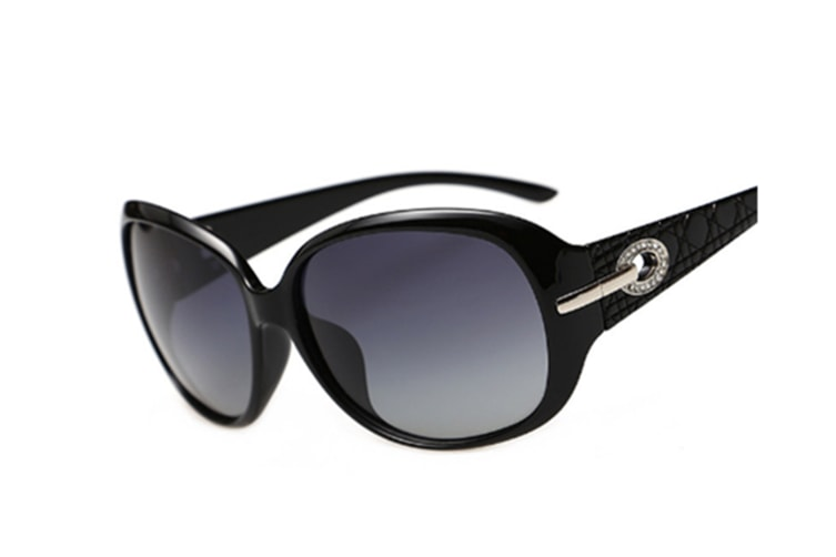 Classic Style Diamond Pattern Polarized Sunglasses Black