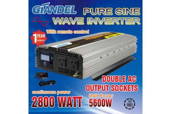 Image of Pure Sine Wave Inverter Thermal Overload Protection 2800W