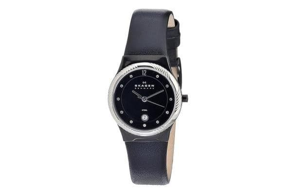 Skagen Women's Leather Collection Swarovski (880LBLBS)
